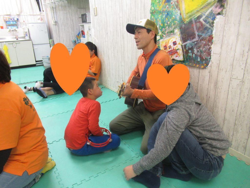 ハートリンク放課後等デイサービス磯子 潤先生と楽しく音楽♫